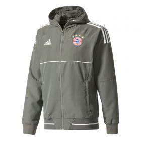 Bayern Munich UCL Training Presentation Jacket - Dark Green