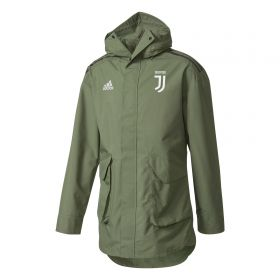 Juventus UCL Training All Weather Jacket - Green
