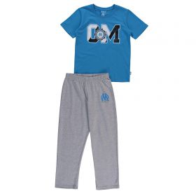 Olympique de Marseille Collegiate T-Shirt - Blue - Boys