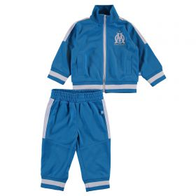 Olympique de Marseille Polyester Tracksuit - Blue - Baby