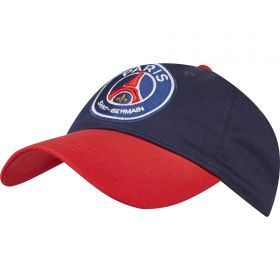 Paris Saint-Germain Block Colour Logo Cap - Navy - Adult
