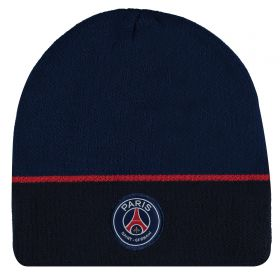 Paris Saint-Germain Logo Beanie - Navy - Adult