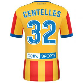 Valencia CF Away Shirt 2017-18 with Centelles 32 printing