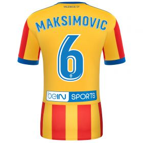 Valencia CF Away Shirt 2017-18 with Maksimovic 6 printing