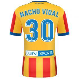 Valencia CF Away Shirt 2017-18 with Nacho Vidal 30 printing