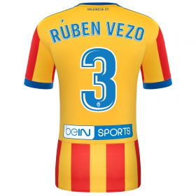 Valencia CF Away Shirt 2017-18 with Rúben Vezo 3 printing