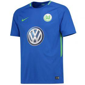 VfL Wolfsburg Away Stadium Shirt 2017-18 - Kids with Gomez 33 printing