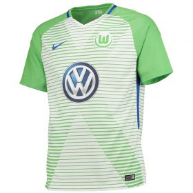 VfL Wolfsburg Home Stadium Shirt 2017-18 - Kids with Uduokhai 17 printing