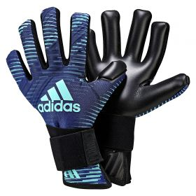 adidas Ace Thunderstorm Goalkeeper Gloves - Mystery Ink/Legend Ink/Energy Aqua/Black