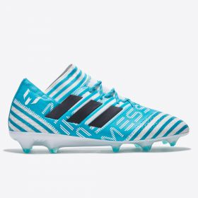 adidas Nemeziz Messi 17.1 Firm Ground Football Boots - White/Legend Ink/Energy Blue