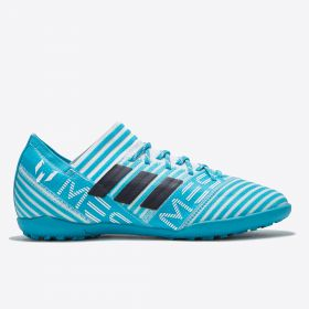 adidas Nemeziz Messi Tango 17.3 Astroturf Trainers - White/Legend Ink/Energy Blue - Kids