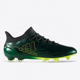 adidas X 17.1 Firm Ground Football Boots - Core Black/Core Black/Solar Yellow