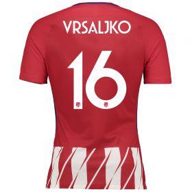Atlético de Madrid Home Vapor Match Shirt 2017-18 Special Edition Metropolitano with Vrsaljko 16 printing