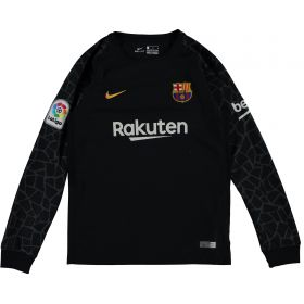 Barcelona Goalkeeper Shirt 2017-18 - Kids with Ter Stegen 1 printing