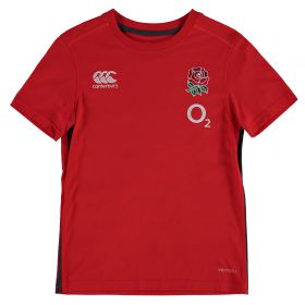 England Rugby Vapodri Cotton Training T-Shirt - Fiery Red - Kids