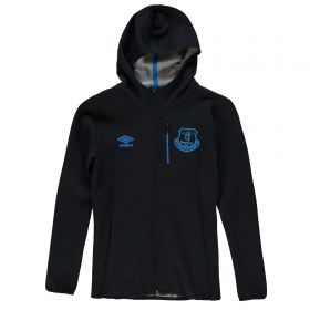 Everton Pro Fleece Hooded Jacket - Junior - Black
