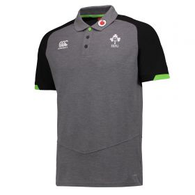 Ireland Rugby Vapodri Cotton Pique Polo - Asphalt Marl