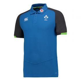 Ireland Rugby Vapodri Cotton Pique Polo- Skydiver blue