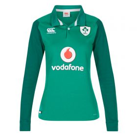 Ireland Rugby Vapodri Home Classic Shirt 2017-18 - Long Sleeve - Womens