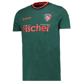 Leicester Tigers Ringer Logo Tee - Lt Marl