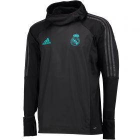 Real Madrid Training Warm-up Top - Black