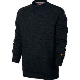 AS Roma Authentic Crew Sweatshirt - Black