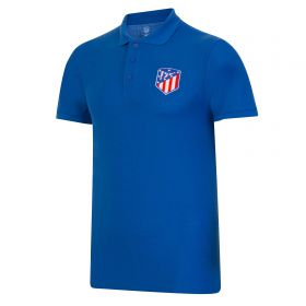 Atlético de Madrid Classic Crest Polo Shirt - Blue - Mens