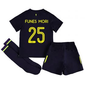 Everton 3rd Infant Cup Kit 2017/18 with Funes Mori 25 printing