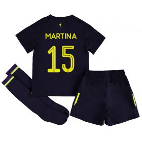 Everton 3rd Infant Cup Kit 2017/18 with Martina 15 printing