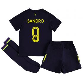 Everton 3rd Infant Cup Kit 2017/18 with Sandro 9 printing