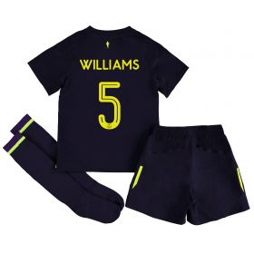 Everton 3rd Infant Cup Kit 2017/18 with Williams 5 printing