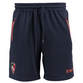 Leicester Tigers Fleece Jogger Short - Navy