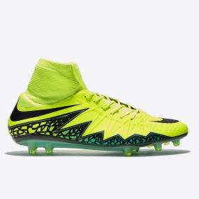 Nike Hypervenom Phatal II Df Firm Ground Football Boots - Volt/Black/Hyper Turqiouse/Clear Jade