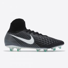 Nike Magista Orden II Firm Ground Football Boots - Black/White/Dark Grey