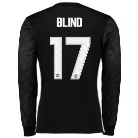 Manchester United Away Cup Shirt 2017-18 - Long Sleeve with Blind 17 printing
