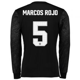 Manchester United Away Cup Shirt 2017-18 - Long Sleeve with Marcos Rojo 5 printing
