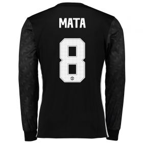 Manchester United Away Cup Shirt 2017-18 - Long Sleeve with Mata 8 printing