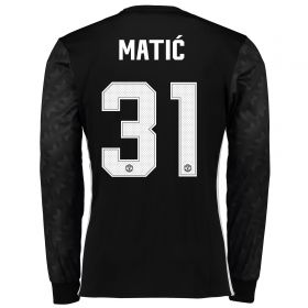Manchester United Away Cup Shirt 2017-18 - Long Sleeve with Matic 31 printing