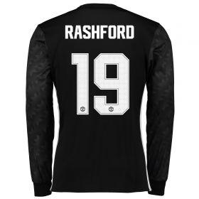 Manchester United Away Cup Shirt 2017-18 - Long Sleeve with Rashford 19 printing