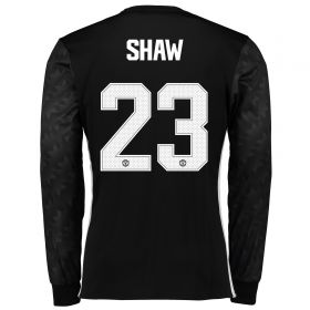 Manchester United Away Cup Shirt 2017-18 - Long Sleeve with Shaw 23 printing