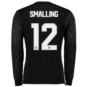 Manchester United Away Cup Shirt 2017-18 - Long Sleeve with Smalling 12 printing