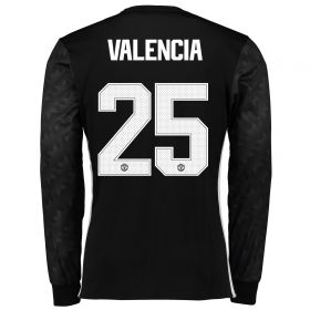 Manchester United Away Cup Shirt 2017-18 - Long Sleeve with Valencia 25 printing