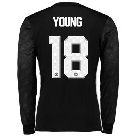 Manchester United Away Cup Shirt 2017-18 - Long Sleeve with Young 18 printing