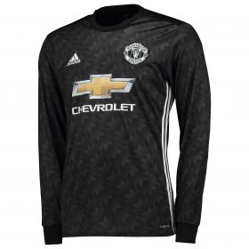 Manchester United Away Shirt 2017-18 - Long Sleeve with Pogba 6 printing