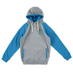 Olympique de Marseille Hoodie - Grey/Blue - Boys