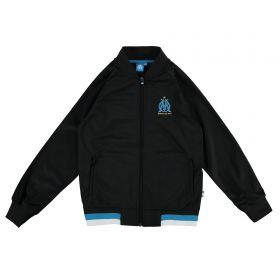 Olympique de Marseille Polyester Track Jacket - Black - Boys