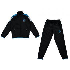 Olympique de Marseille Polyester Tracksuit - Black - Boys