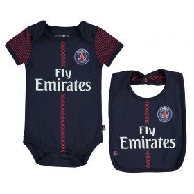 Paris Saint-Germain Kit Bodysuit & Bib Set - Navy - Baby