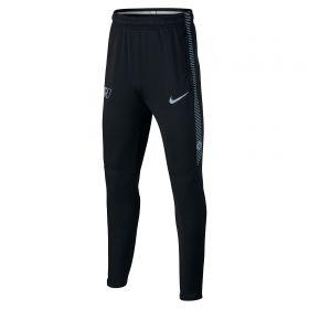 Nike CR7 Dry Squad Pants - Black/Black/Blue Tint/Lt Armory Blue - Kids