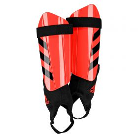 adidas Ghost Club Shinguards - Solar Red/Black